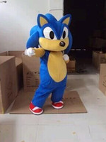 Wholesale Sonic Hedgehog Costume Adults - High Quality Hedgehog Sonic Mascot Costume Cartoon Character Party or Commercial Supply Adult Size