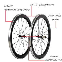 Wholesale Clincher Rims Alloy Braking Surface - Carbon Wheels 700C Road Bike Carbon+Aluminium Alloy Brake 50mm Depth*23mm Width Clincher Rim 3K UD Glossy Matte Surface Bicycling Parts