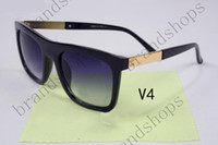 Wholesale Big Eyeglasses Frames - high quality unisex sunglasses fashion uv400 cool retro brand personality big square eyeglass