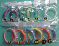 Wholesale Ion Waterproof - 1000pcs lot New ion Health Anion wrist Silicone bracelet watch waterproof watch anion sport watches