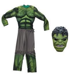Fábrica traje mascote on-line-Alta Qualidade O Hulk Traje Da Mascote Dos Desenhos Animados Roupas terno verde gigante Crianças Tamanho Fantasia Vestido de Festa Direto Da Fábrica
