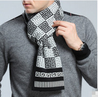 Wholesale Shop Shawls - Mens scarf striped men shawls scarves fashion designer wrap men business scarf oversized scarf cashmere pashmina for free shopping