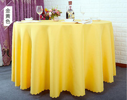 Wholesale table cloth covers wholesale - Table cloth Table Cover round for Banquet Wedding Party Decoration Tables Satin Fabric Table Clothing Wedding Tablecloth Home Textile WT045