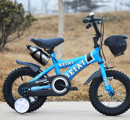 Wholesale 14 Inch Blue Bike - Wholesale BEIAI 14,16 inch classic children's bicycles kids bike 6 kind Free Gift 4 colors practice bike free shipping
