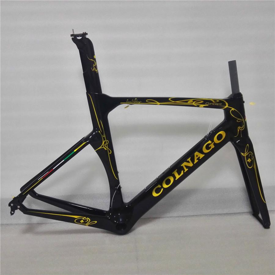 2017 Colnago Concept Black/gold Painting UD Velo Bici BICICLETTA ...