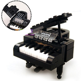 Wholesale Block Piano - Piano Models Building Blocks Toys Enlightening Piano Musical Instrument Assembling Building Block Model DIY Assembled Piano Educational