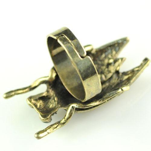 anelli per ciondoli insetti | anello bijoux con cicala bijoux in argento | vendita calda negli Stati Uniti, RN-581A