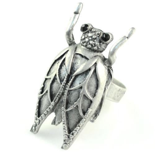 Modeschmuck Ring Großhandel - Zikaden Insekt Anhänger Silberlegierung Ringe, heißer Verkauf in Großbritannien, RN-581B