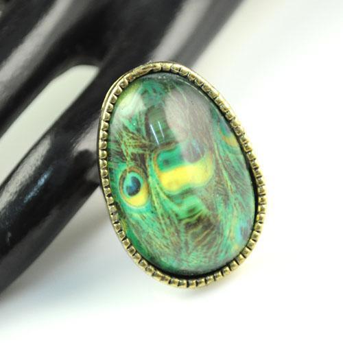 anello di fidanzamento | Anelli di design di piume di pavone antico, vendita calda a Sydney, Austrilia, RN-583A