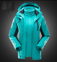 Wholesale Wholesale Ski Coats - Hot Selling Outdoor ski-wear male and female triad mountaineering wear winter hair thickening waterproof coat two-piece wholesale