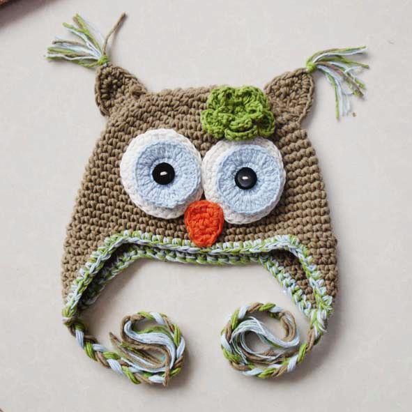 2018 Crochet Owl Hat Monkey Hat Childrens Hats Caps Knitting Hat
