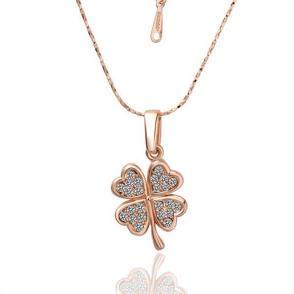 Wholesale hot new four leaf clover pendant necklace 18k crystal wholesale hot new four leaf clover pendant necklace 18k crystal christmas gift jewelry for diamond necklaces pendants for necklace from zsbs990 aloadofball Image collections