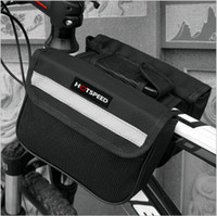 Wholesale Double Pannier Bag - New Cycling Bicycle Bike Top Frame Front Pannier Tube Bag Double Pouch Holder Mountain Bicycle Accessories