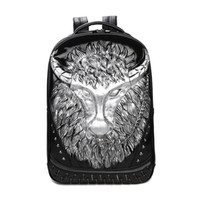 Wholesale Men S Backpack Bags - Men 's shoulder bag 3d package personalized backpack trend art embossed cow pattern backpack student bookbag