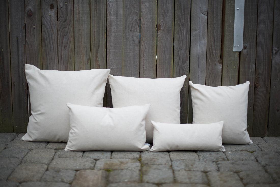 Plain Natural Linen Cotton Lumbar Pillow Cover For Custom Print