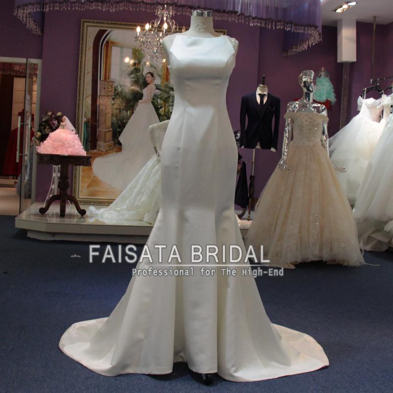 6f47efd809c Vintage Mermaid 2016 Wedding Dresses Plus Size Satin Long Wedding Dress  Backless Winter Garden Sweep Train Flowers Wedding Bridal Gowns Bridal Dress  Mermaid ...