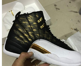 Wholesale Canvas Shoes Wings - New Products Very OVO Drake White Black Wings 12 Basketball Shoes Men 12 Sneakers Men's 12s Shoes size US8-US12