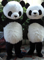 Wholesale Mascot Panda Costume Custom - performance fancy dress character party panda mascot costume New Version Chinese Giant Panda Mascot Costume panda mascot costume