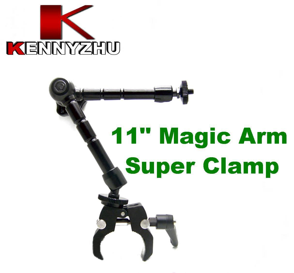 DSLR Rig Articulating Magic Brazo 11 '' + Super Clamp Para DSLR Cámara Led Led Lcd Field Monitor