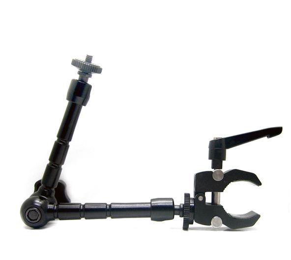 DSLR Rig Articulating Magic Arm 11'' + Super Clamp For DSLR Camera Led Light Lcd Field Monitor