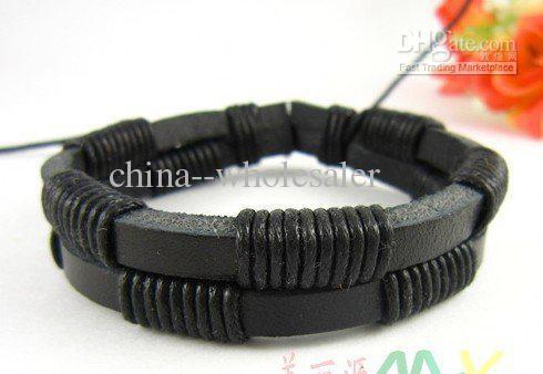 Most Popular Fashion Real Leather braided Bracelets Jewelry Couple Wristband Personalized new xmas gifts