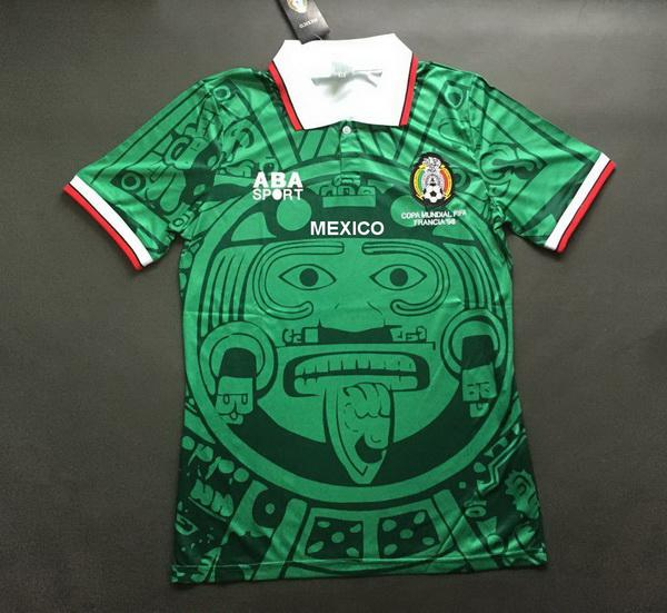7995c8638 2019 Camiseta De Fútbol Retro Mexico Home Green Away White World Cup 1998  Copa Mundial Soccer Jersey From Unicef, $14.14 | DHgate.Com