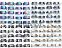 Wholesale Wholesale Jewlery Settings - Jewlery Rings Fashion Jewelry 48pcs Stainless Steel Ring Mixed Style Rings Rings Jewellery Band ring [SR15 SR16 SR17 SR22*12]