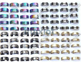 Wholesale Fashion Rings Jewellery - Jewlery Rings Fashion Jewelry 48pcs Stainless Steel Ring Mixed Style Rings Rings Jewellery Band ring [SR15 SR16 SR17 SR22*12]