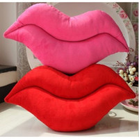 Wholesale Sexy Toys Items - 2017 New Sexy Lips Toys Sofa Novelty Item Pillows Cushion Chair Cushion Toys Hold Couch Stuffed Plush For Valentine's Day Gift