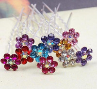 Wholesale Crystal Hair Grips - 200pic lot Free Shipping Crystal Hair Pins, Wedding Party Hair Pins,Bridal hair grips