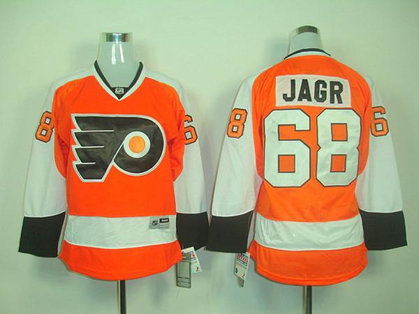 Yüksek kaliteli Philadelphia Flyers # 68 Jaromir Jagr # 28 Giroux Kadınlar Jersey Hokeyi Formalar