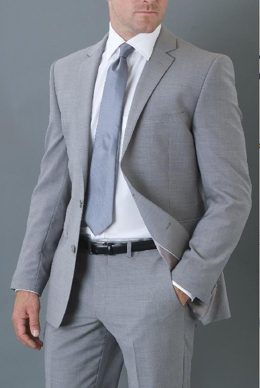 2019 Men Suit Tailor Made Suit Light Gray Suit Mens