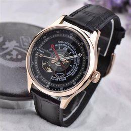 Wholesale Unique Big Watches - New listing I brand luxury mens watch flywheel 43mm novel device design big red hour automatic mechanical movement unique generous