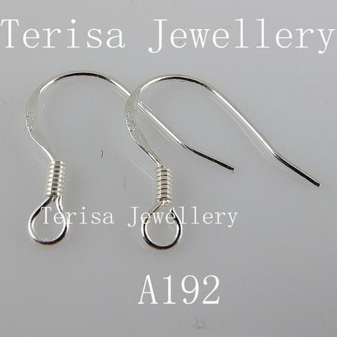 бесплатная доставка стерлингового серебра 925 серьги крюк ширина серьги:5 мм длина 15 мм 100 пар/лот A192
