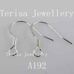 Larghezza dell'orecchino del gancio dell'orecchino dell'argento sterlina di trasporto 925 libera: lunghezza di 5mm 15mm 100pairs / lot A192 da