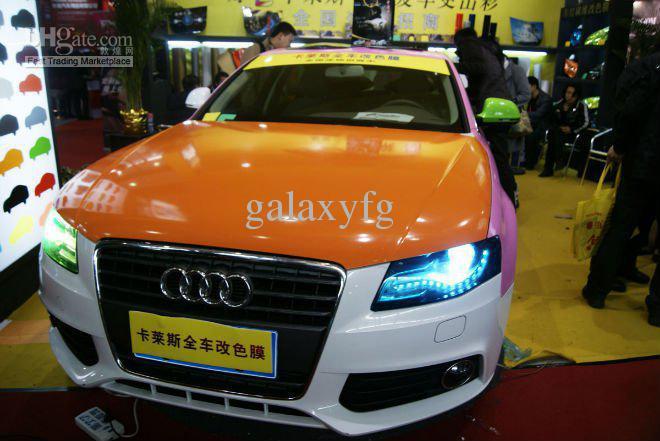 Trasporto libero da Fedex Auto Head Fog Light decorazione della decorazione Stampaggio Film Foil 0.3 * 10M
