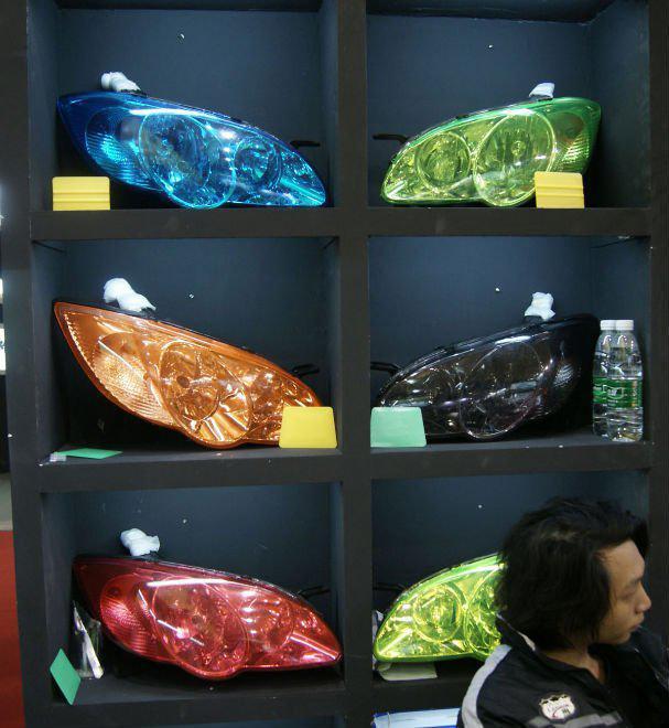 Freies Verschiffen durch Fedex-Selbstkopfnebel-Lichtlampe Dekoration, die Schutzfilm-Folie 0.3 * 10M formt