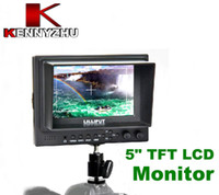 Wholesale Lilliput Lcd Monitors - Lilliput On Camera Field Monitor 5'' TFT LCD With HDMI Input & Output For HD Video Cameras Canon 5D II III 7D Nikon D90 Camcorder Free Gift