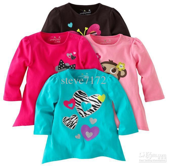 264063694 Jumping beans girls' blouses t-shirts boys' tshirts tops sweaters kids  outfit baby tees shirts LM414
