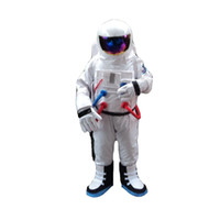 Wholesale Spaceman Costume - Spaceman Mascot Costume Astronaut Halloween Party Dress AdultSize Free Shipping