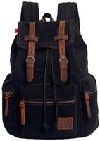 Wholesale Leopard Print Backpack Vintage - 2017 hot sale Vintage Canvas Backpack Outdoor Hiking Travel Rucksack 19L