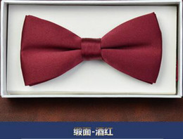 Wholesale Men Wedding Tie Shirt - Groom Ties wedding Accessories groom engraved British Korean version of the shirt bow tie Elegant Men bow tie important Event Goods