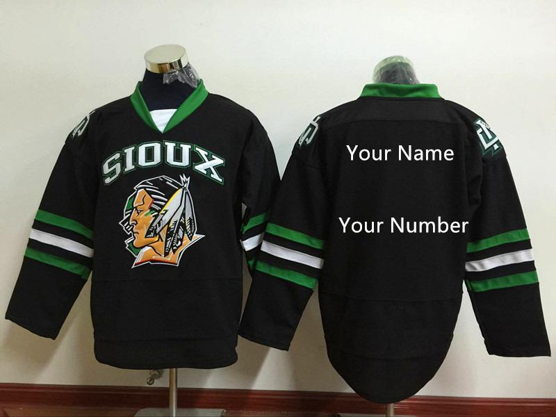 Custom North Dakota Fighting Sioux Hockey Jersey Limited Mens Stitched  Black Green White Shirts Any Name Any Number S 4XL UK 2019 From  Moviejerseymall 8f0bd01b0de