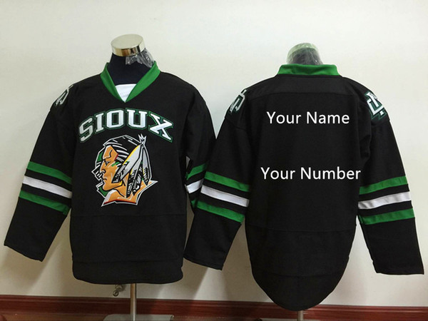 Custom North Dakota Fighting Sioux hockey Jersey Limited Mens Stitched Black Green white Shirts Any Name Any Number S- 4XL Free Shipping