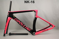 Wholesale Bikes Frames China - 14 Styles T1100 Cipollini NK1K carbon bike frameset BB30 BSA Made in China Road bicycle carbon frames Glossy Matte finish