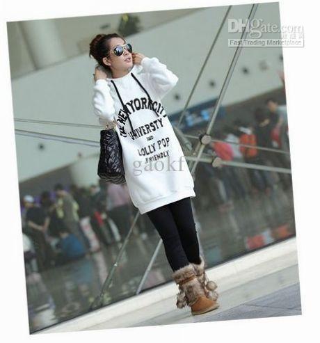 2017 Plus Size S 4xl Women Midi Hoodies Drawstring Long Sleeve ...