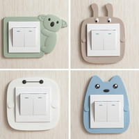 Wholesale Wholesale Wall Switch Cover - Cartoon Luminous Soft Switch Stickers Protective Cover Bedroom Switch Decorative Stickers Luminous Wall Stickers Home Decoration Supplies Wh