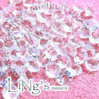 Wholesale Diamond Confetti 2ct - Free Shipping 1000pcs 2ct 8mm Clear White diamond confetti wedding favor table scatter