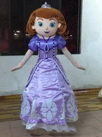 Wholesale Used Mascot Costumes - 2017 new hot sale Sofia the first mascot costume Sofia princess costume for kids party use