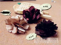 Wholesale Hawaii Ladies - 100pcs Multi-Color Fashion Woman Flower Hair Accessories Gerbera Hair Clips Girls Brooches Head Flowers Christmas Gift Lady Hawaii Party